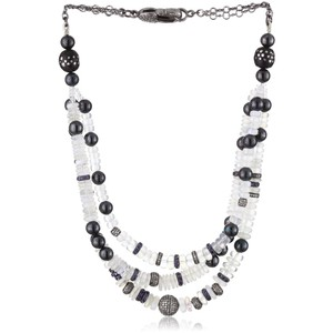 Jordan Alexander 3-Strand Moonstone, Tiger Eye, Diamond and Prayer Bead Necklace