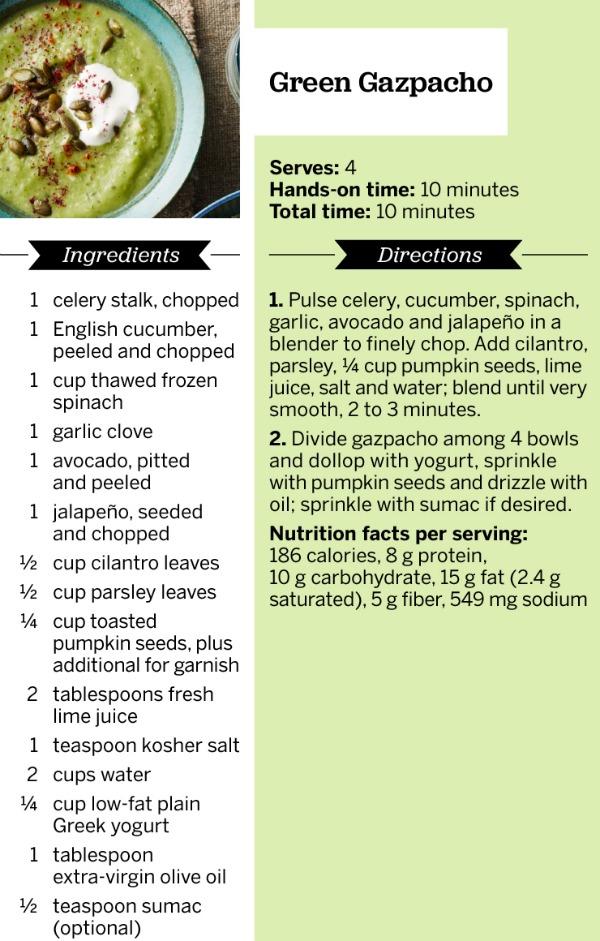 Green Gazpacho Recipe - Fitness Magazine