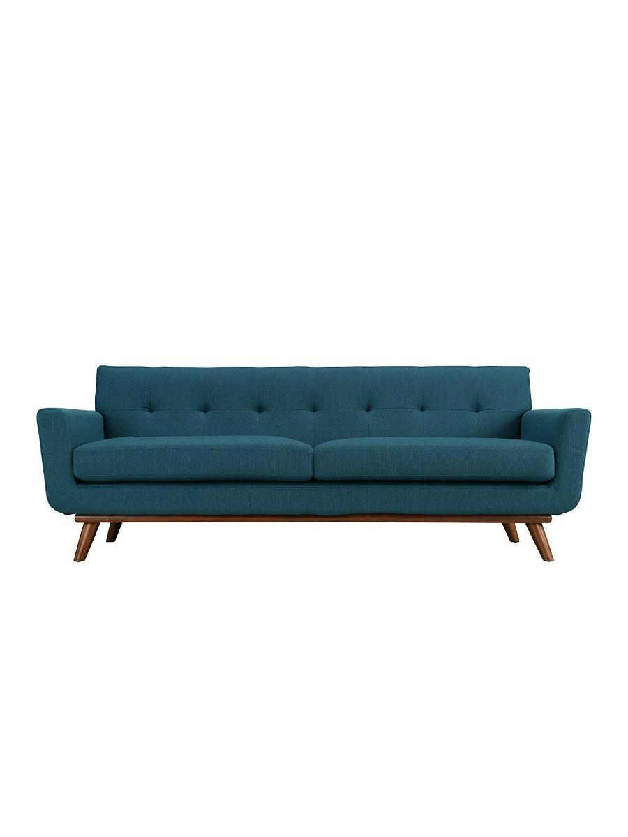 Modway Engage Upholstered Sofa in Azure